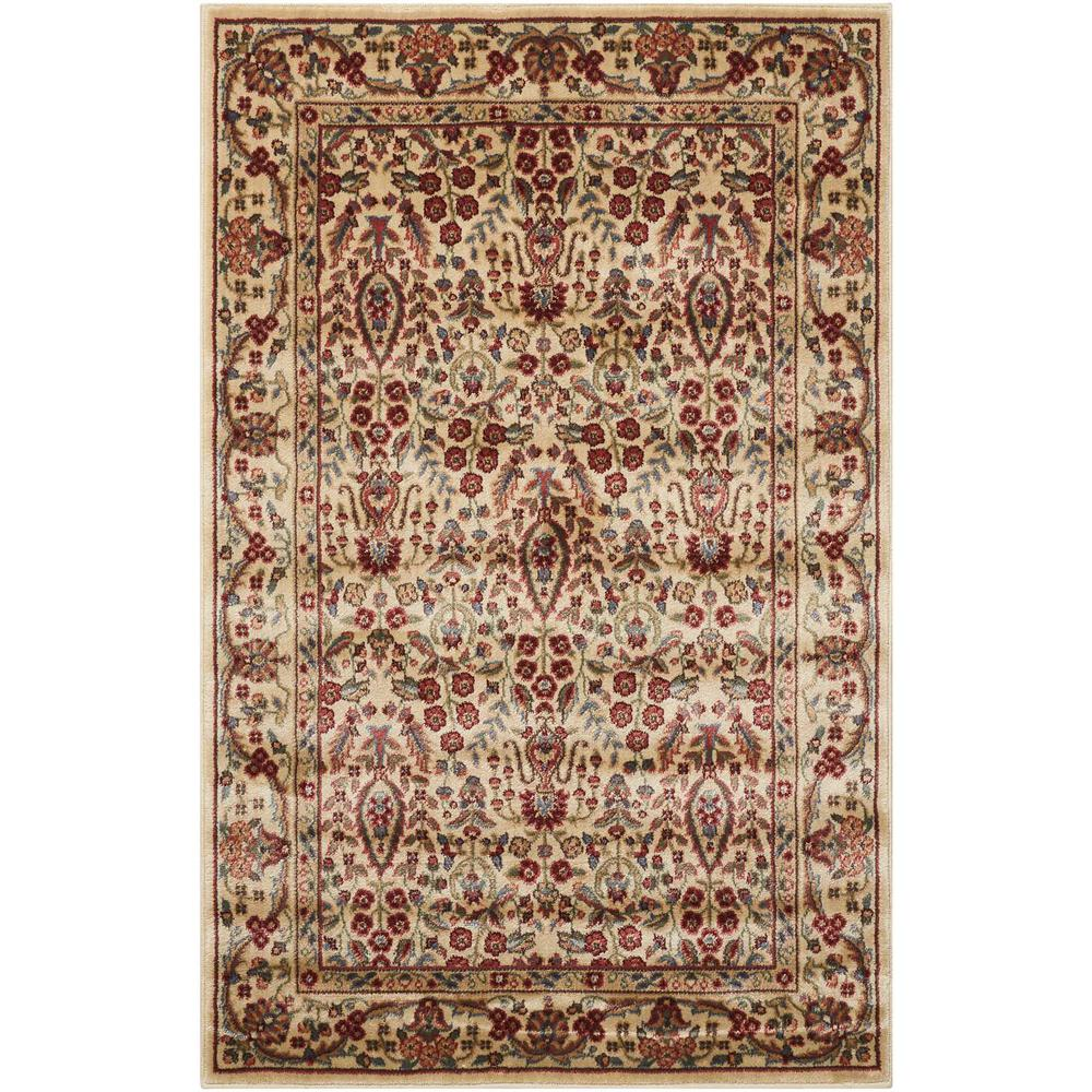 Persian Arts Ivory 2 ft. x 3 ft. 6 in. Accent Rug