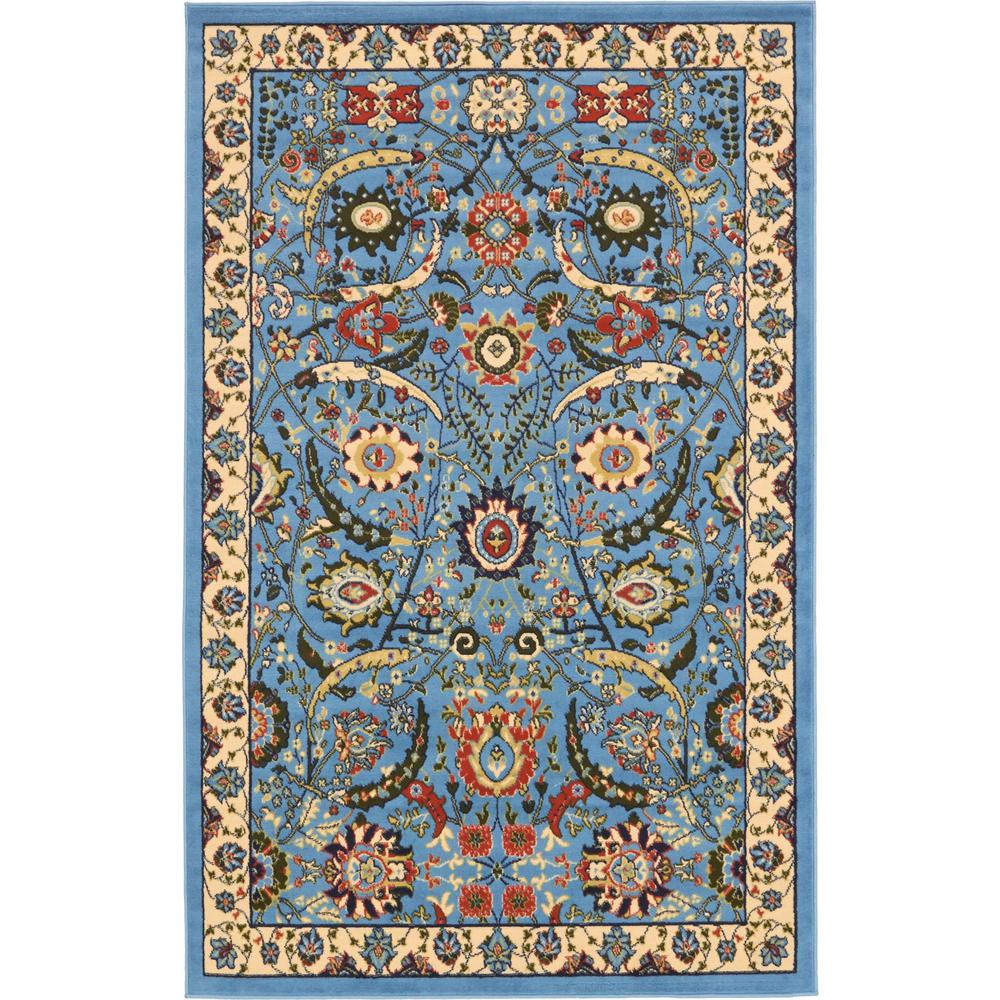 Mohawk home bright floral toss multi 5 ft x 8 ft area for Bright blue area rug