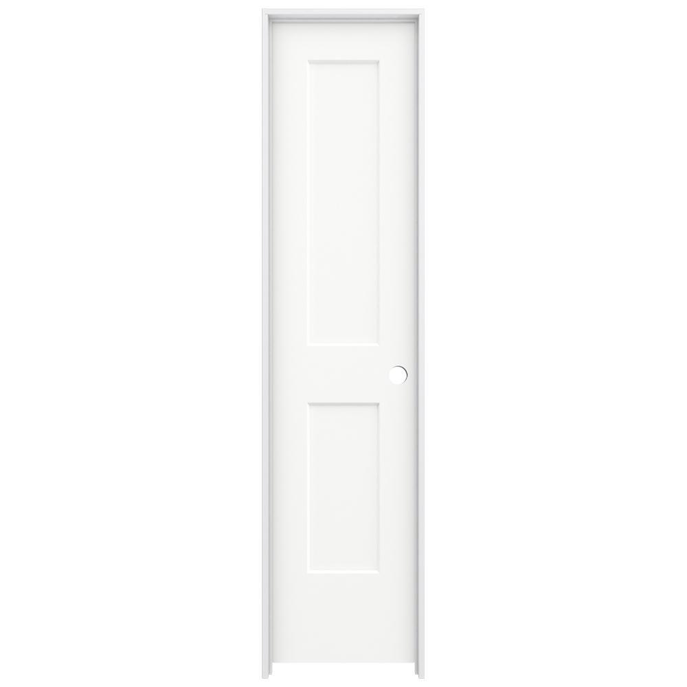 Jeld Wen 20 In X 80 In Monroe White Painted Left Hand Smooth Solid Core Molded Composite Mdf