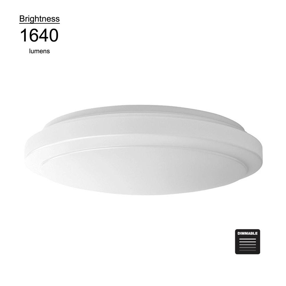 Hampton bay 16 in bright white round led flushmount ceiling light bright white round led flushmount ceiling light fixture dimmable aloadofball Image collections