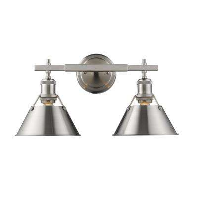 pewter damp rated vanity lighting lighting the home depot