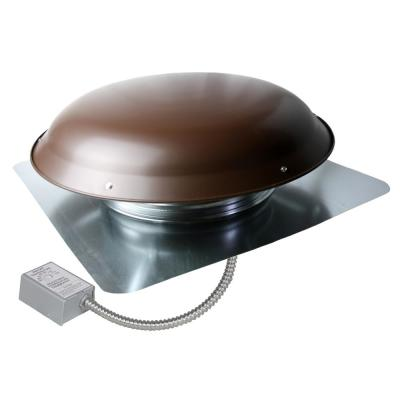 1400 CFM Brown Galvanized Steel Electric Powered Attic Fan with Adjustable Thermostat