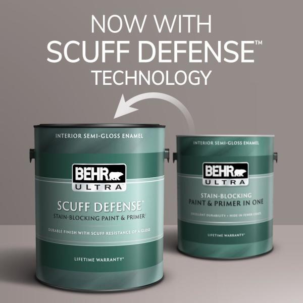 Reviews For Behr Ultra 1 Gal 510e 1 Ice Folly Extra Durable Semi Gloss Enamel Interior Paint Primer 375001 The Home Depot