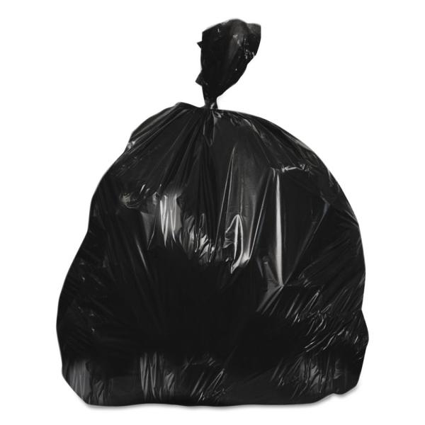30 in. x 37 in. 30 Gal. 10 mic Black High-Density Trash Can Liners (25-Bags/Roll, 20-Rolls/Carton)