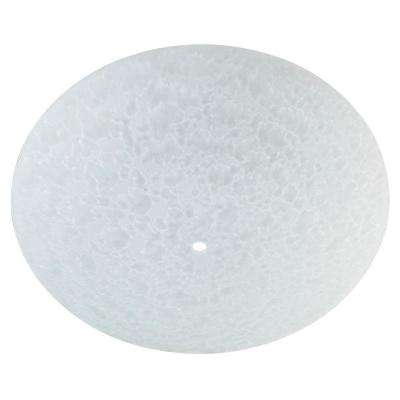 12-3/4 in. Round Glass Diffuser Frosted with 2-3/8 in. Depth