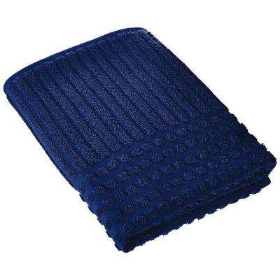 Piano Collection 27 in. W x 55 in. H %100 Turkish Cotton Luxury Bath Towel in Midnight Blue