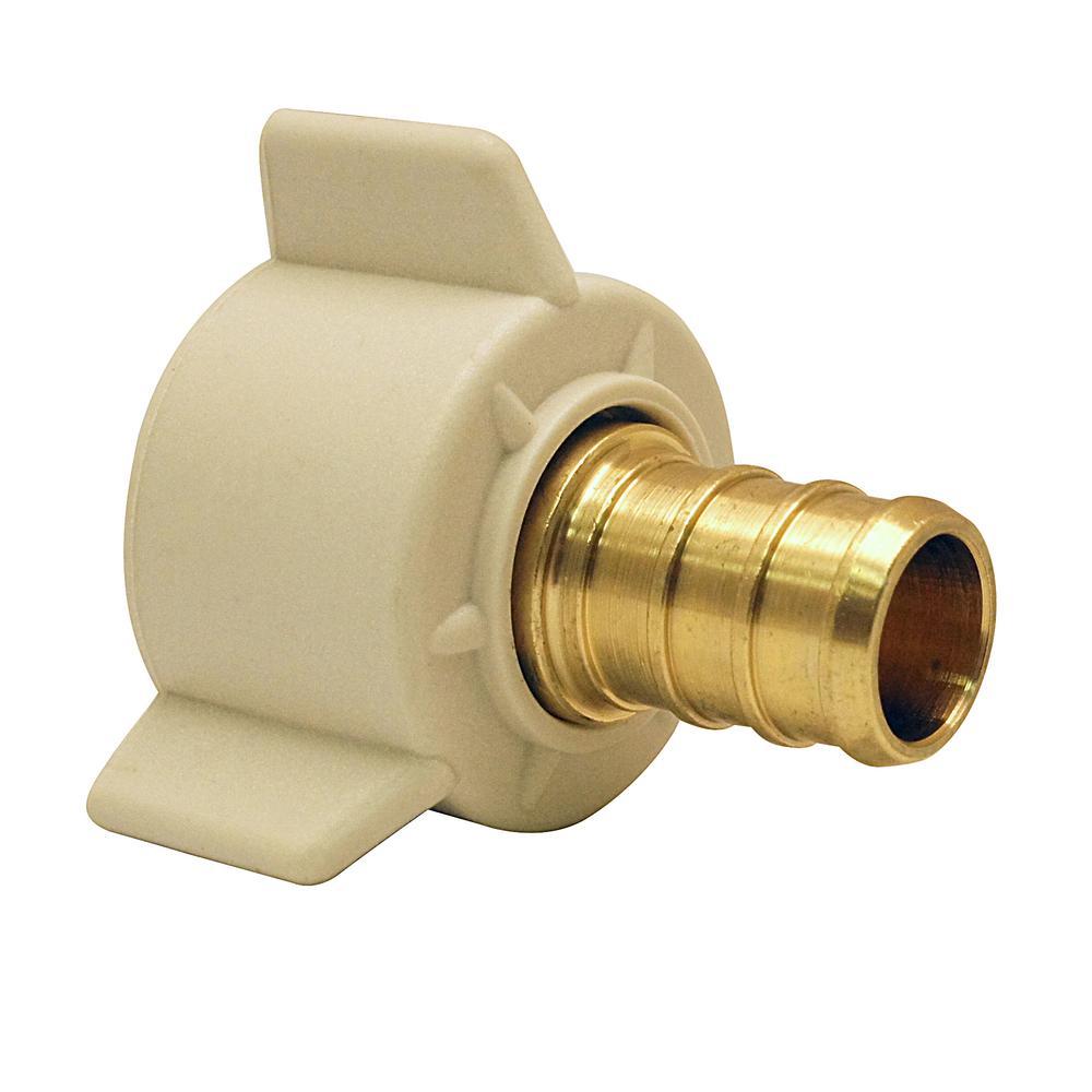 1/2 in. Brass PEX Barb x Female Swivel Adapter