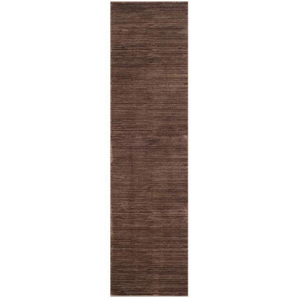 Vision Brown 2 ft. x 22 ft. Runner Rug
