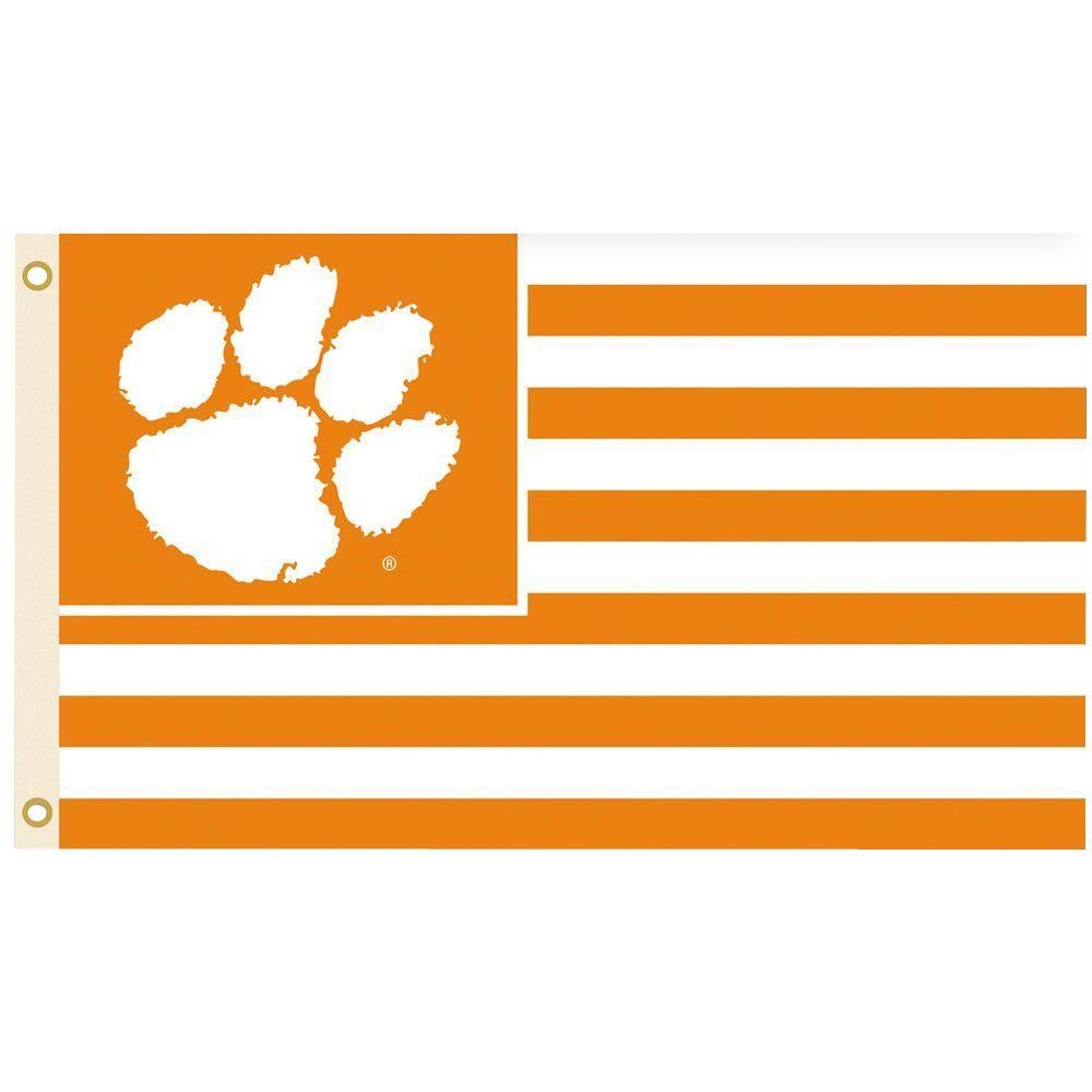 BSI Products NCAA 3 ft. x 5 ft. Clemson Flag