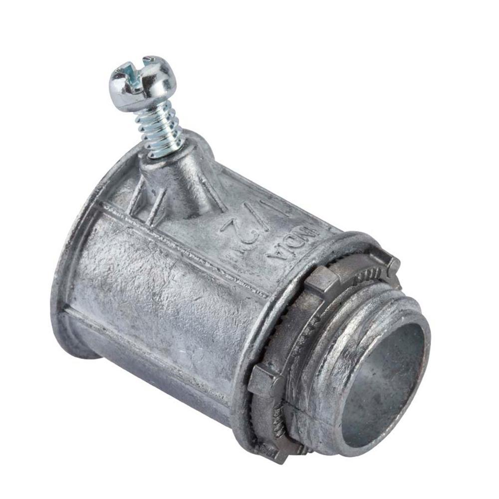 null 1/2 in. Flexible Metal Conduit (FMC) Set Screw Connector