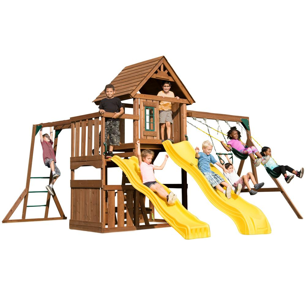 Swing-N-Slide Playsets Timberview Ready-To-Assemble Swing Set