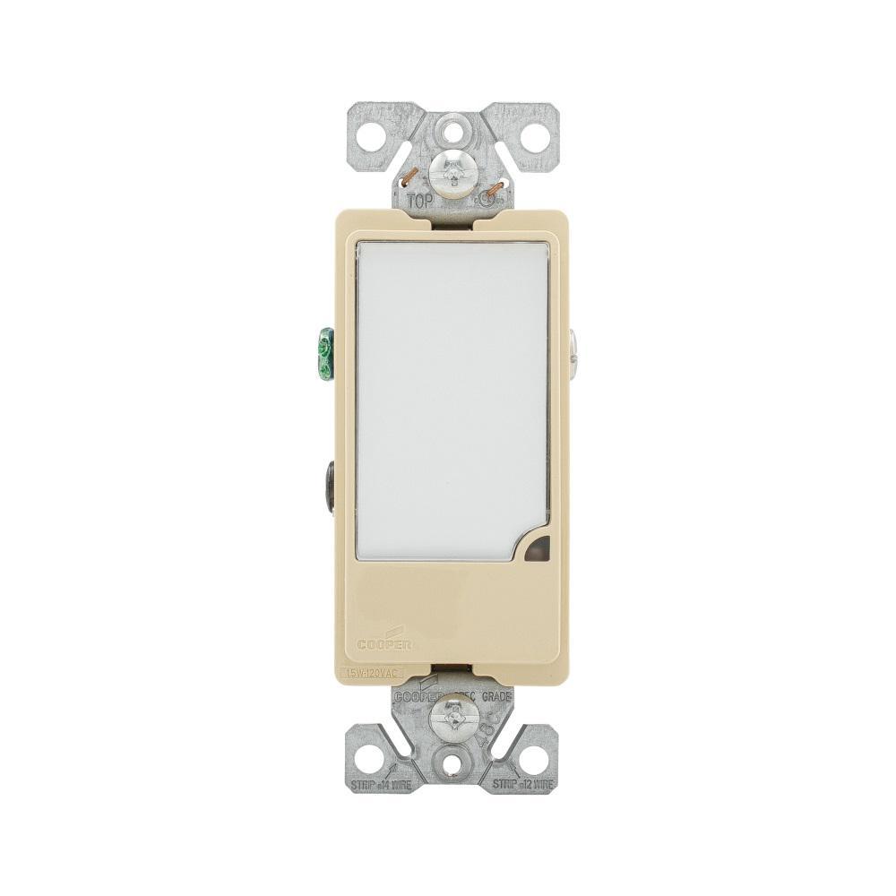 Eaton 1-Watt 120-Volt Full LED Hallway Nightlight Heavy Duty Grade - Light Almond