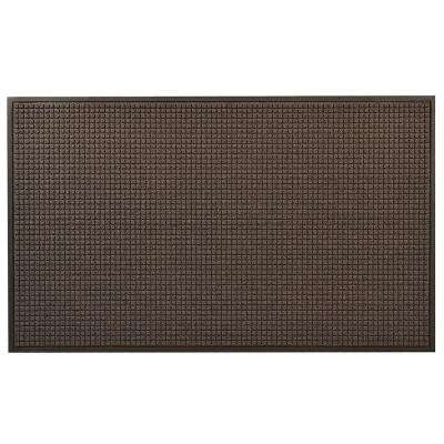 Guzzler Charcoal 36 in. x 120 in. Rubber-Backed Entrance Mat