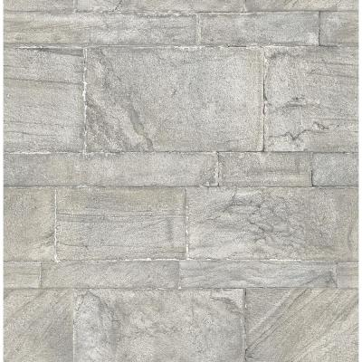 56.4  sq. ft. Clifton Light Grey Sandstone Wallpaper