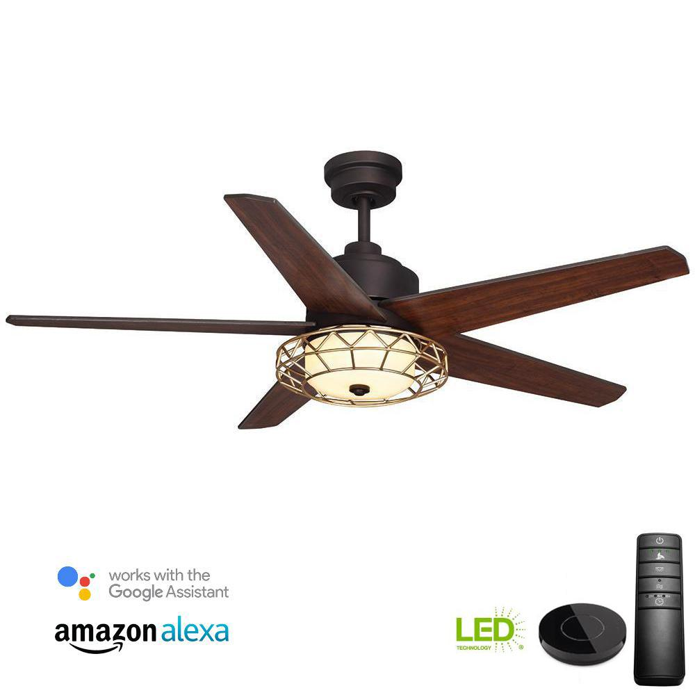 Home Decorators Collection Costner 52 In Led Oil Rubbed