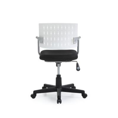 White Mid-Back Adjustable Height Swiveling Desk Chair with Padded Seat and Breathable  sc 1 st  The Home Depot & White - Office Chairs - Home Office Furniture - The Home Depot