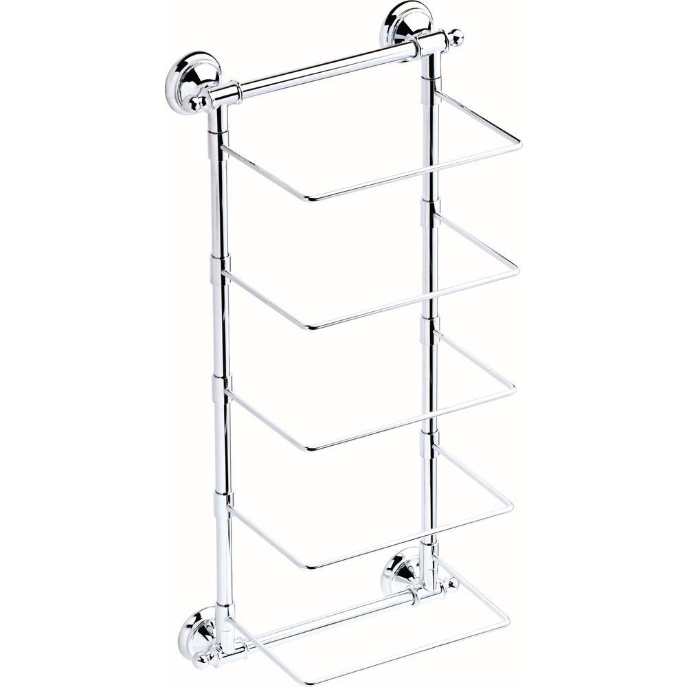 5-Bar Wall-Mounted Towel Rack in Polished Chrome