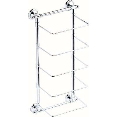 5 Bar Wall Mounted Towel Rack In Polished Chrome