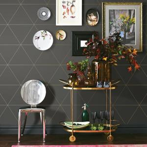 Click here to buy A-Street 56.4 sq. ft. Twilight Grey Geometric Wallpaper by A-Street.