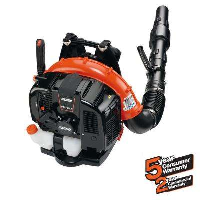 214 MPH 535 CFM 63.3cc Gas 2-Stroke Cycle Backpack Leaf Blower with Hip Throttle