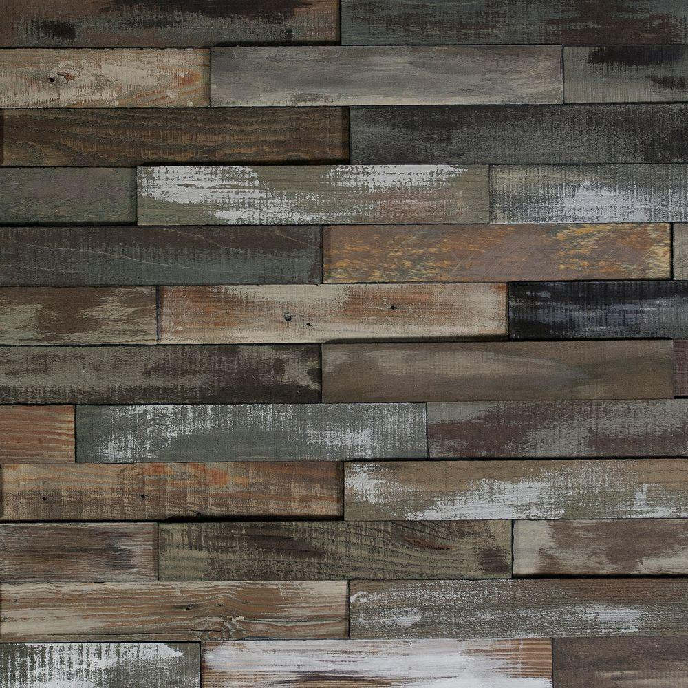 Nuvelle deco planks weathered gray 1 2 in thick x 2 in for Recycled wood board