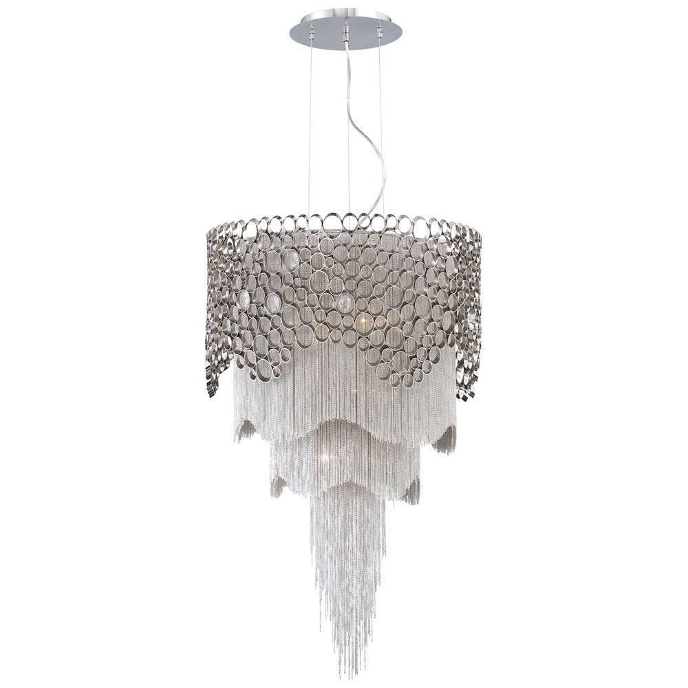 Eurofase Cameo Collection 6-Light Nickel Pendant