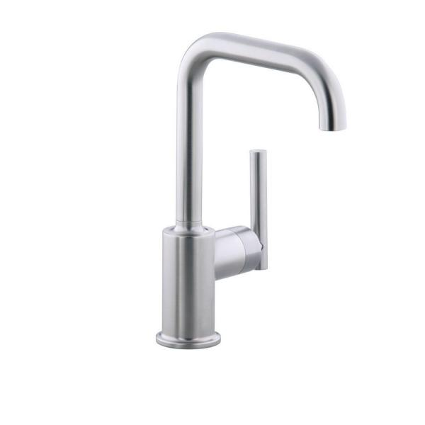 Purist Single-Handle Standard Kitchen Faucet with Secondary Swing Spout in Vibrant Stainless