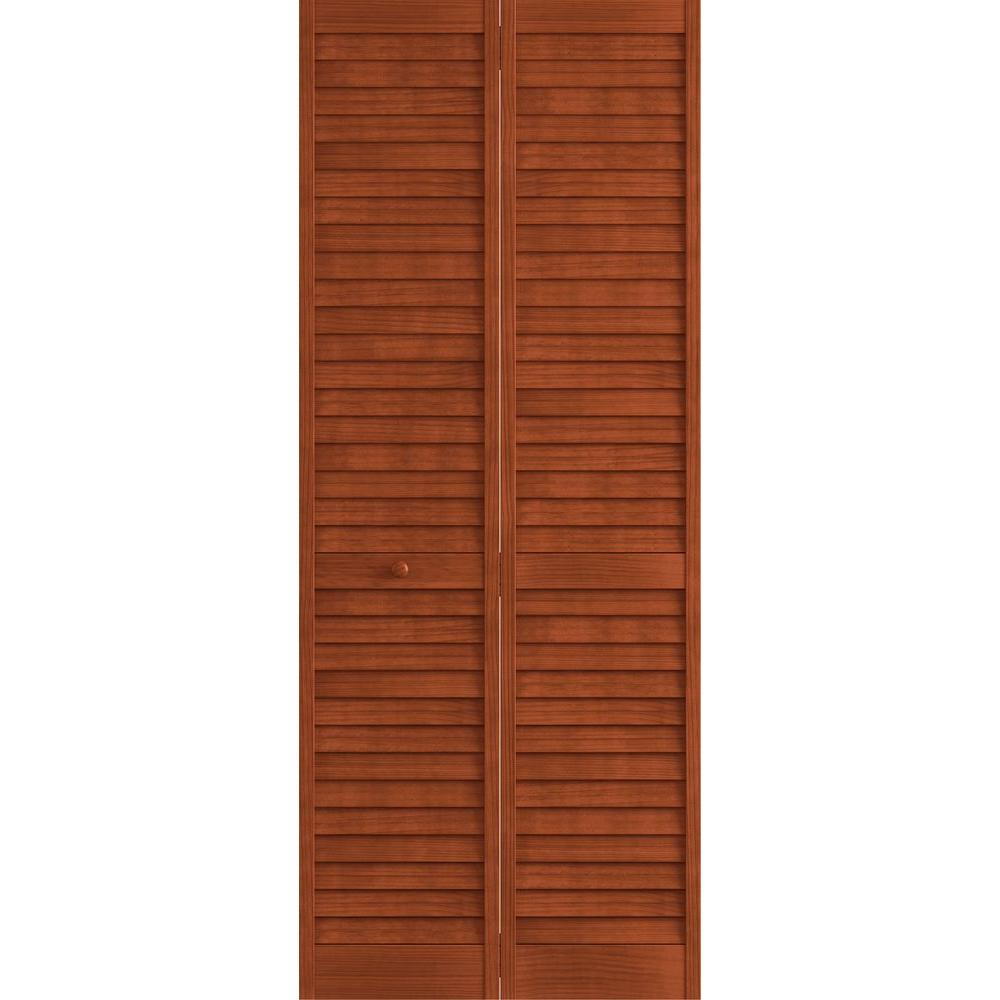36 In X 80 In Pine Unfinished 2 Panel Full Louver Wood: Frameport 36 In. X 80 In. Louver/Panel Pine White Interior