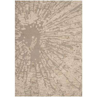 Bella Winter Taupe 6 ft. x 9 ft. Area Rug