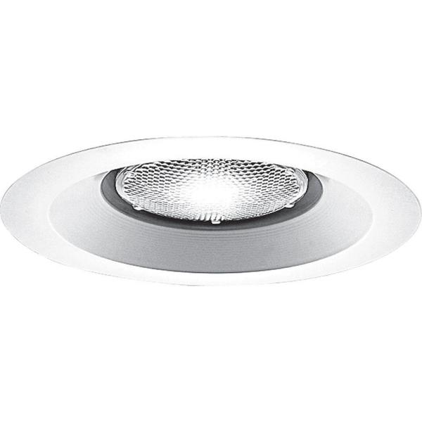 6 in. White Recessed Open Splay Trim