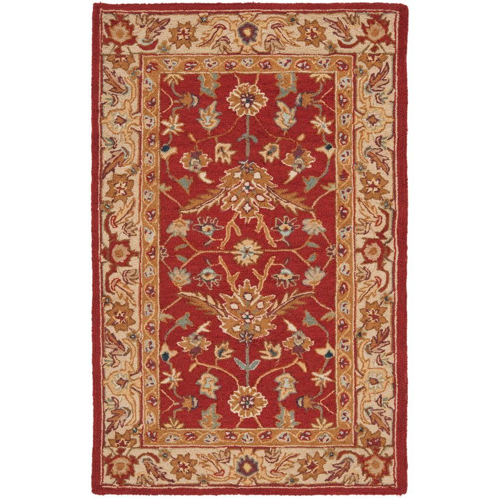Safavieh Chelsea Red/Ivory 2 ft. 6 in. x 4 ft. Area Rug