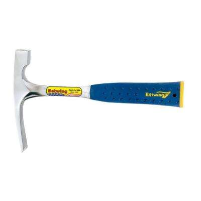 20 oz. Solid Steel Bricklayer with Blue Vinyl Shock Reduction Grip and Patented End Cap