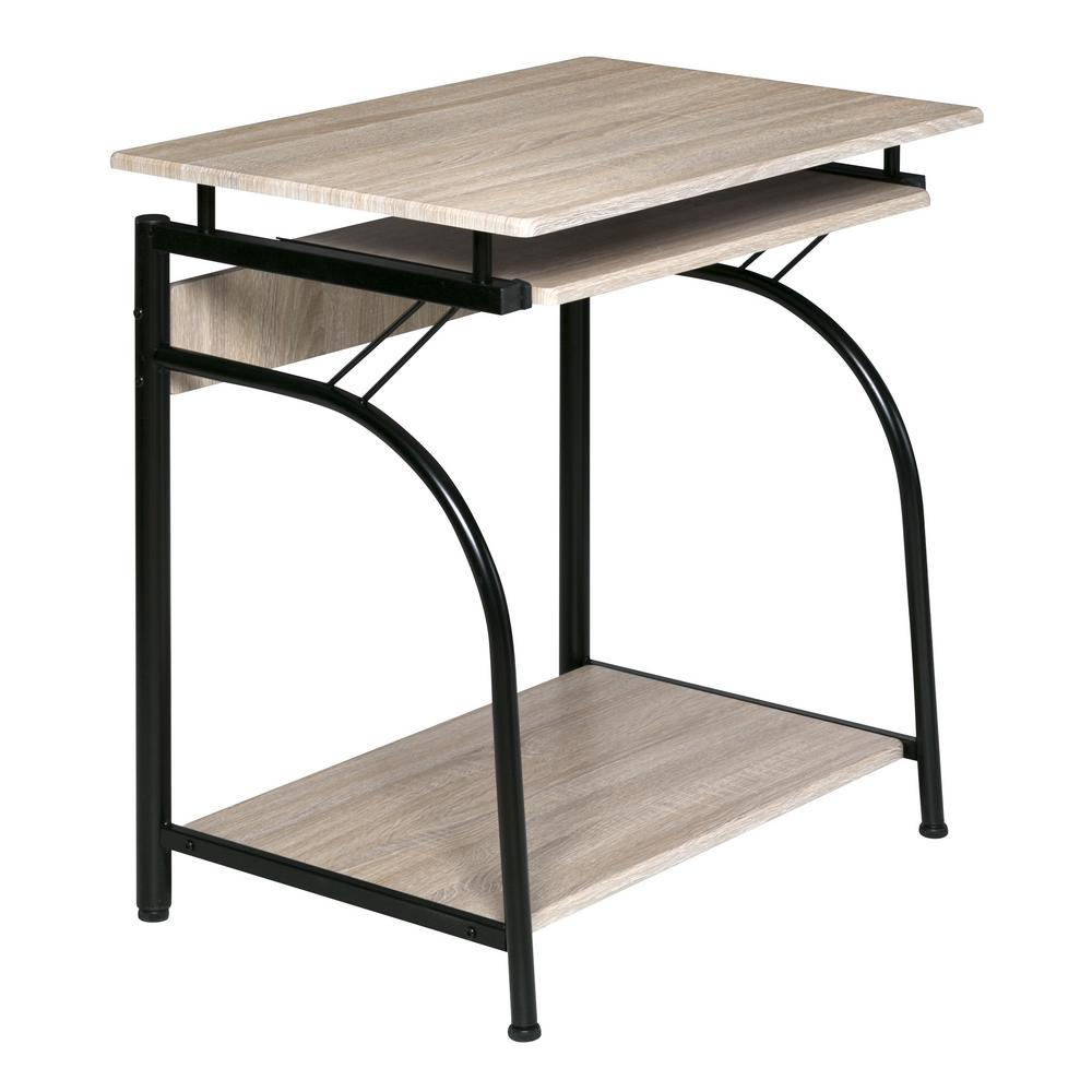 onespace simply glass desk with desktop printer stand and usb and a rh homedepot com