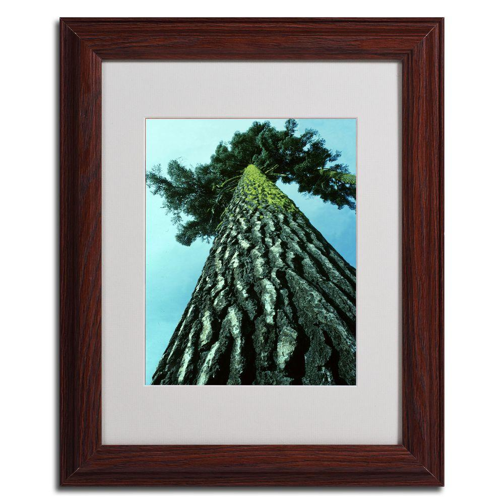 null 11 in. x 14 in. A Tree of Life Dark Wooden Framed Matted Art