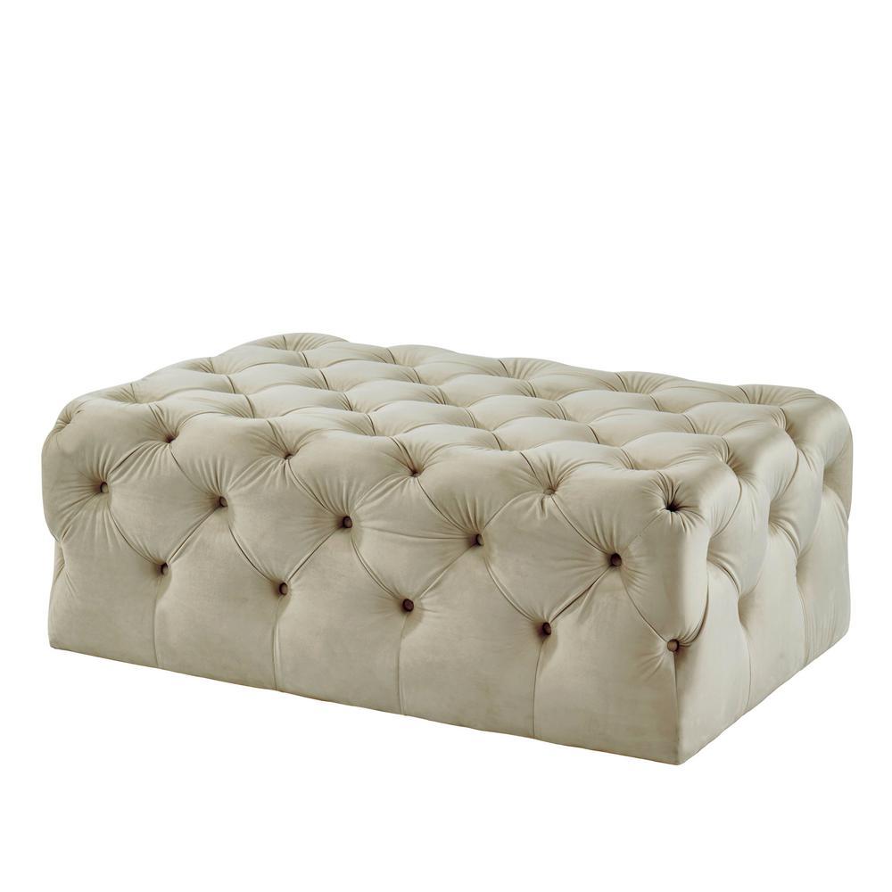 Prime Ashley Beige Button Tufted Ottoman Bralicious Painted Fabric Chair Ideas Braliciousco