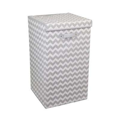 Chevron Grey Laundry Hamper