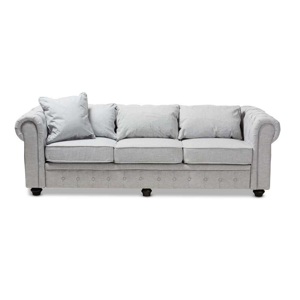 Sectional Sofa Grey Baxton Studio: Baxton Studio Alaise Grey Fabric Sofa-144-8099-HD