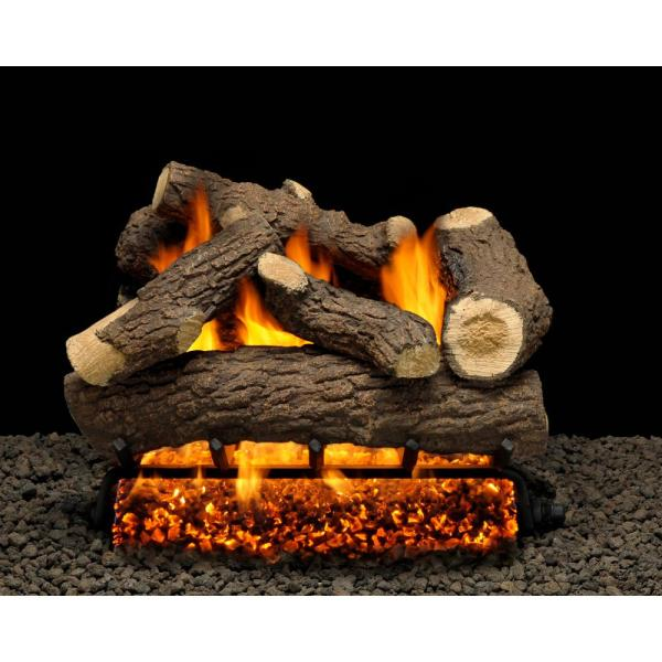 Cordoba 24 in. Vented Propane Gas Fireplace Logs, Complete Set with Manual Safety Pilot Kit