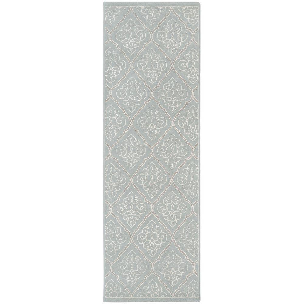Candice Olson Blue Living Rooms: Surya Candice Olson Pale Blue 3 Ft. X 8 Ft. Runner Rug