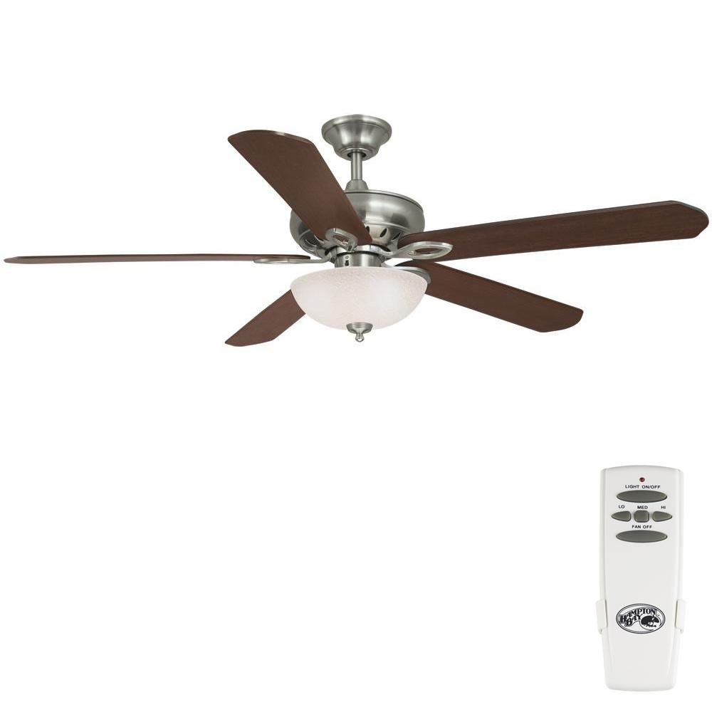 Asbury 60 in. LED Indoor Brushed Nickel Ceiling Fan with Light