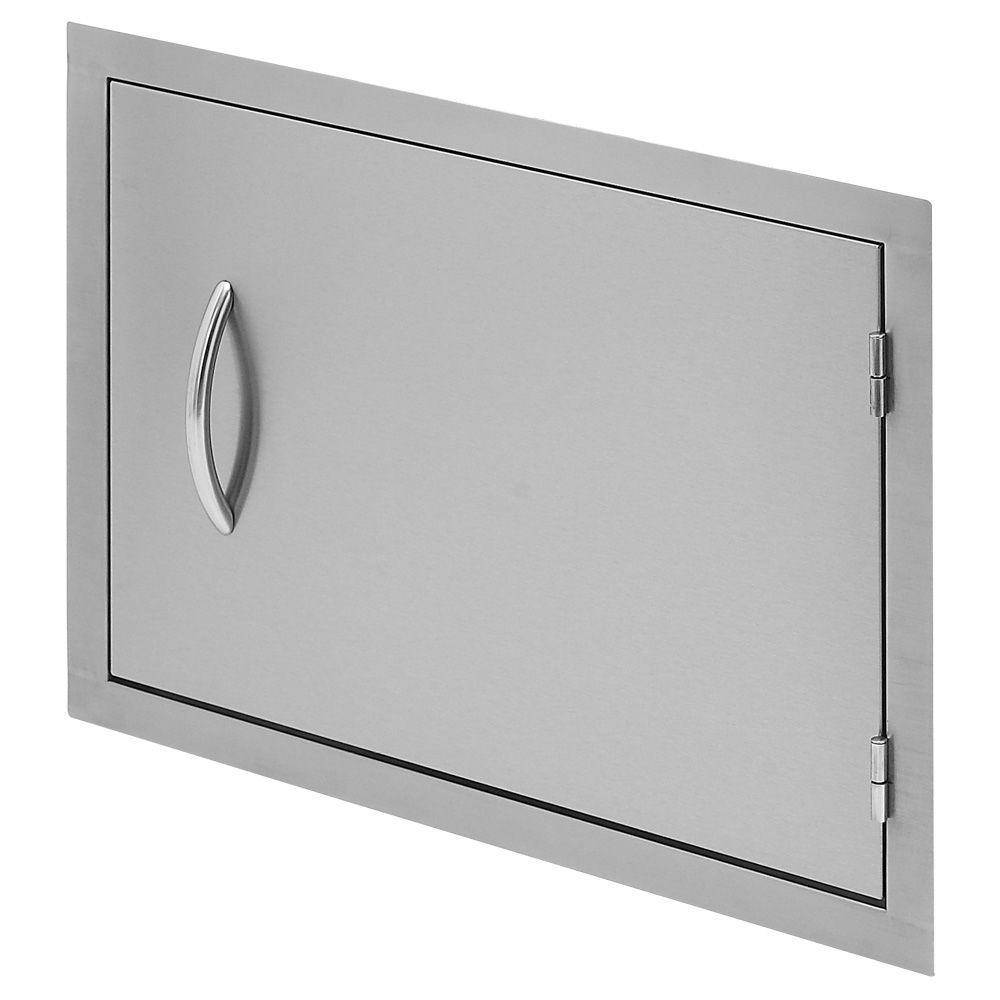 Outdoor Kitchen 27 in. Stainless Steel Horizontal Storage Door