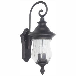 Home Decorators Collection Wesleigh 2-Light Bronze Outdoor Wall Lantern Sconce
