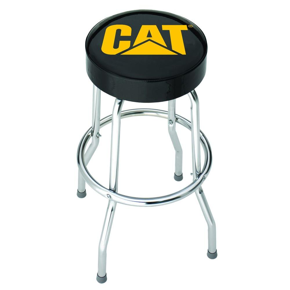 Plasticolor 20 5 In Chrome Cushioned Bar Stool 004776r01 The Home