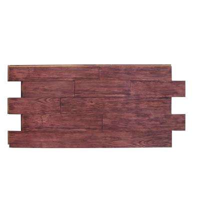 Raised Grain Faux Transitional Panel 1-1/4 in. x 48 in. x 23 in. Mahogany Polyurethane Interlocking Panel