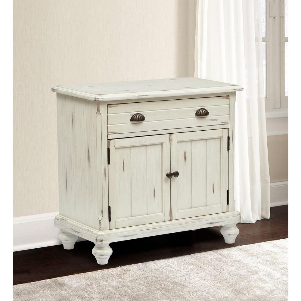 Country White Storage Cabinet
