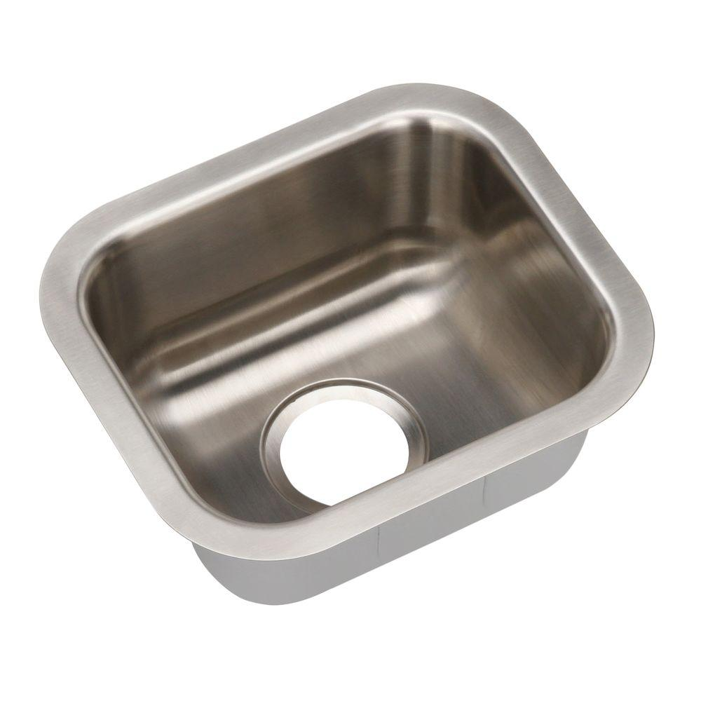 Revere Hospitality Undermount Stainless Steel 15 in. 0-Hole Single Bowl Sink