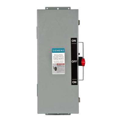 Double Throw 30 Amp 600-Volt 3-Pole Type 12 Non-Fusible Safety Switch