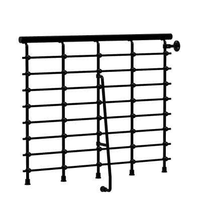 Oak.Xtra 47 in. Metal Black Balcony Rail Kit