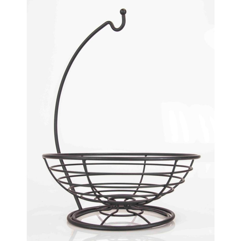 Wire 1-Piece Steel Fruit Basket Set with Banana Tree