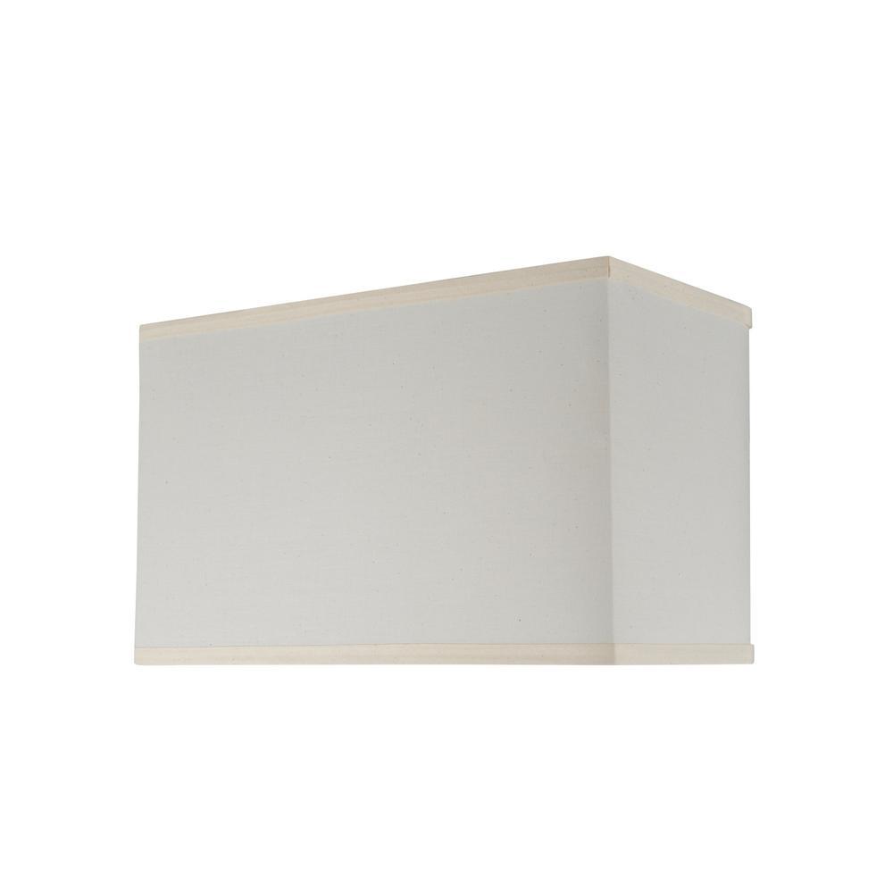 Aspen Creative Corporation 16 In X 10 Off White Hardback Rectangular Lamp Shade